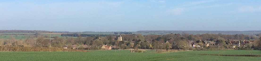 Looking across the fields to Turvey in April